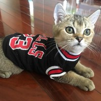 Pet Cat Kitten Clothes Spring T-shirt Soft Dogs Clothes Pet Clothing Summer Shirt Casual Vests For Small Cats