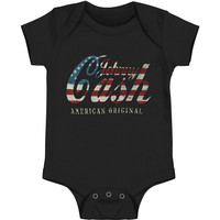 Johnny Cash Boys' Logo Bodysuit Black