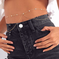 Nicola Rhinestone Belly Body Chain | Urban Outfitters