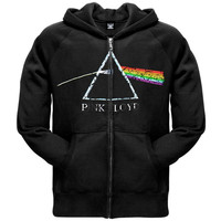 Pink Floyd - Distressed Dark Side Adult Zip Hoodie