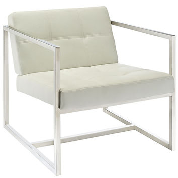 HOVER LOUNGE CHAIR IN WHITE