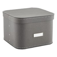 Grey Oskar Storage Box with Lid
