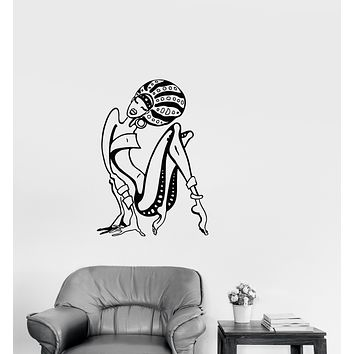 Vinyl Wall Decal Cartoon African Woman Abstract Girl Stickers (3374ig)