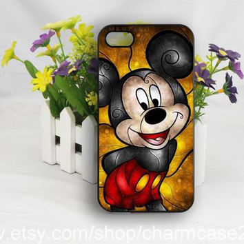 Mickey iPhone 4s case,Disney phone case,samsung galaxy s3/s4/s5 case,iphone 4/4s case,iphone 5/5s case,iphone 5c cover,Personalized