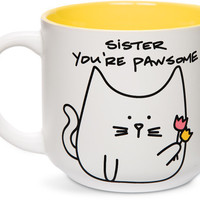 Sister you're pawsome Cat Coffee Mug