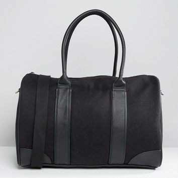 ASOS Holdall In Melton With Contrast Trims at asos.com