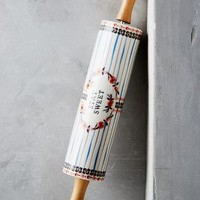 Handpainted Lucerne Rolling Pin by Anthropologie in Assorted Size: One Size Kitchen