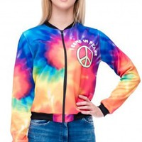 Colorful Rainbow 3D Printed Fashion Short Jacket