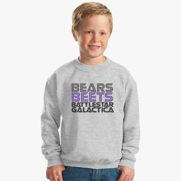 Bears, Beets, Battlestar Galactica Kids Sweatshirt