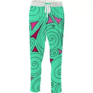 Mint swirl drawstring pant created by duckyb | Print All Over Me