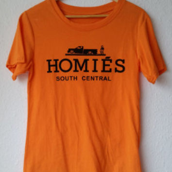Homies Orange Hermes Style Tshirt Size Medium