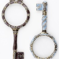 Vintage Inspired Magnifying Glass - Blue or Brown