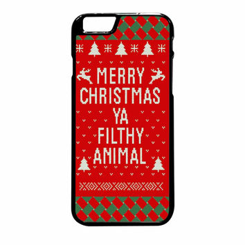Merry Christmas Ya Filthy Animal iPhone 6 Plus Case