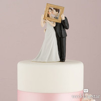 Picture Frame Romantic Couple Wedding Cake Topper