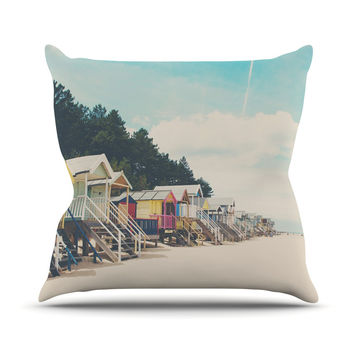 "Laura Evans ""Small Spaces"" Beach Coastal Outdoor Throw Pillow"