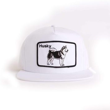 Dog Limited Husky White Snapback Hat