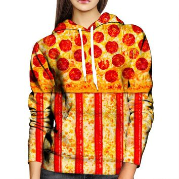 United States Pizza Womens Hoodie