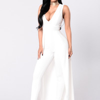 Middle Of Things Jumpsuit - Ivory