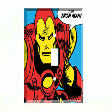 Light Switch Cover - Light Switch Plate Iron Man