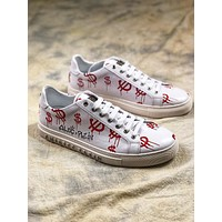 Philipp Plein Graffiti White Red Low Sneakers