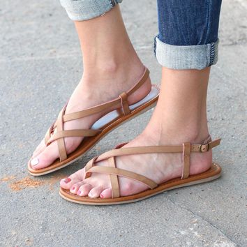 MIA: Cruise Strappy Sandals {Natural}