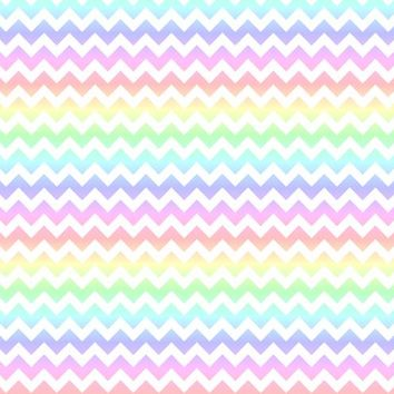 Pastel Rainbow White Chevron - 13moons_design - Spoonflower