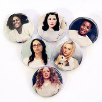 """Orange Is the New Black 1 1/4"""" Pin-back Buttons"""