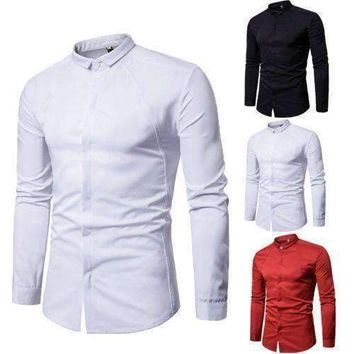 Gentleman Polo Shirts Long Sleeve Slim Fit Stylish Luxury Mnes Polo Shirts Anti Wrinkle Formal Men Clothing