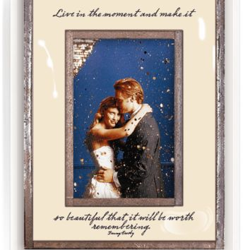 Live In The Moment Copper & Glass Photo Frame