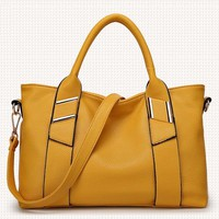 Tote Two Way Faux Leather Handbag