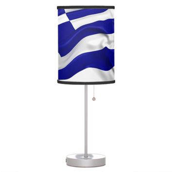 Greek Flag Desk Lamp