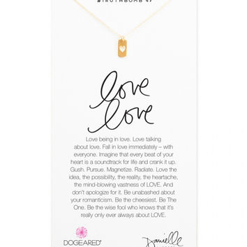 Dogeared | Gold Love Love Necklace