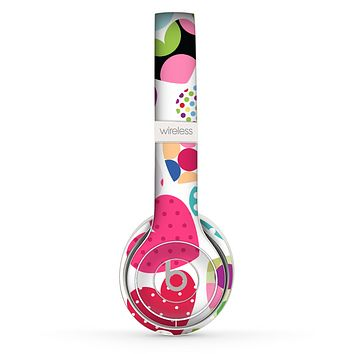 The Colorful Polkadot Hearts Skin Set for the Beats by Dre Solo 2 Wireless Headphones
