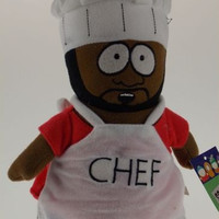 """Comedy Central South Park Chef Jerome Plush 9"""" Cafeteria Worker Bendable Figure"""