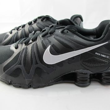 NEW MEN'S NIKE SHOX TURBO + 13 525155-001 BLACK/MTLLC SLVR-ANTHRCT-SMMT WHT
