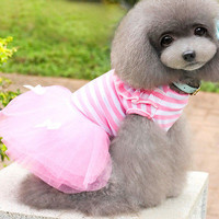 Dog Cat Princess Tutu Dress Pet Puppy Skirt Clothes Lace Apparel 3C