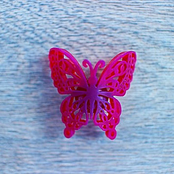 3d printed butterfly cabinet knobs insect drawer pulls butterflies nature home hardware