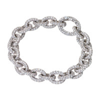 RenéSim Brilliant Link Bracelet All Over Set with Sparkling Diamonds
