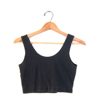 vintage cropped tshirt. modern belly shirt. faded black bra tank top