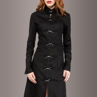 Black Widow Coat with Back Lacing