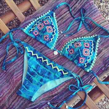 Fashion printed Halter Neck bikini