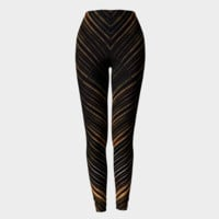 Modern Stripes Print Leggings Leggings