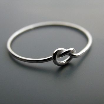 Knot ring - recycled sterling silver ring