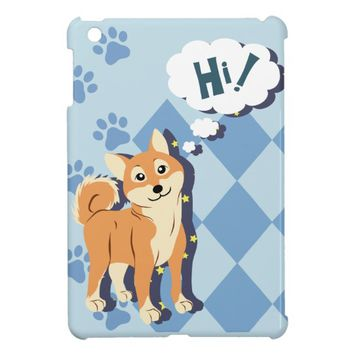 Thoughtful Shiba Inu iPad Mini Covers