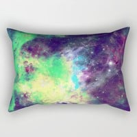Green Galaxy Rectangular Pillow by SagaciousDesign