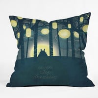 Belle13 Totoros Dream Forest Outdoor Throw Pillow