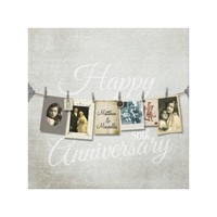 Vintage Happy Anniversary Clothes Line Photo