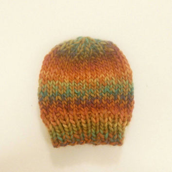 Rainbow Baby Knit Hat, Baby Shower Gifts, Knitted Baby Rainbow Hat