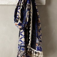 Zagori Scarf by Anthropologie Navy One Size Scarves