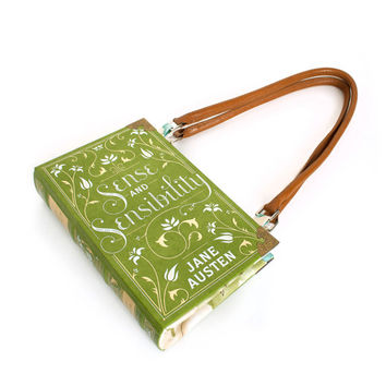 Sense & Sensibility bookpurse - Book clutch, bag, or purse made from Jane Austen book